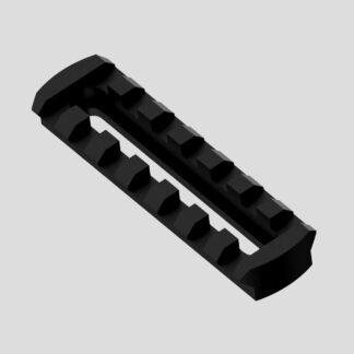 Adjustable picatinny rail